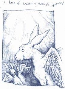 Christmas rabbit Blue