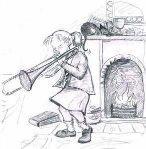Branwyn trombone lesson