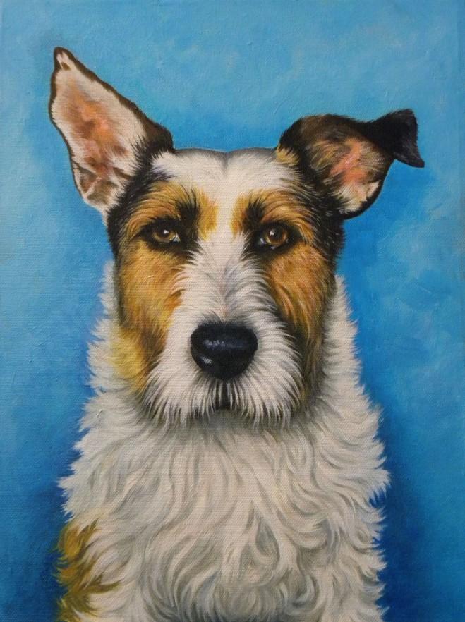 Harry portrait in oils