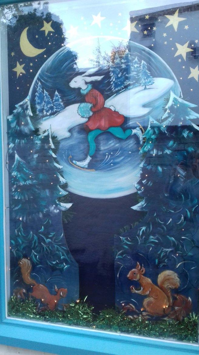Woodshed Christmas Window