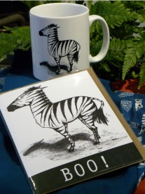 Zebra mug and card